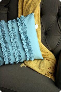 DIY Ruffle pillow