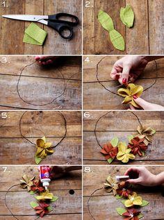 Corona de flores [2] #craftidea