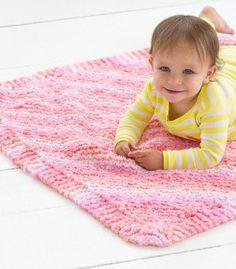 Corner to Corner Baby Blanket   AllFreeKnitting.com