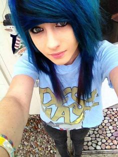 Emo blue hair- there is something about blue hair