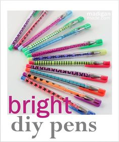 diy school supplies for teens   ... to personalize your office supplies with bright paper supplies needed