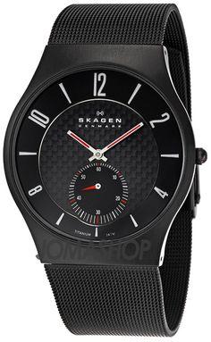 Skagen Titanium Black Mens Watch 805XLTBB- So Sleek