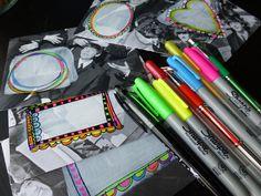 Neon Rock n Roll Envelope Tutorial: Made by Nicole