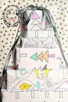 printable gift wrap 1