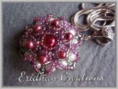 Free Beaded Flower Tutorial from by Eridhan Creations featured in Bead-Patterns.com Newsletter!