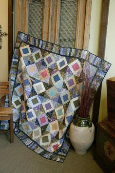 Dazzling Diamonds by ZJ Humbach, featured in Quilters Newsletter's Best Fat Quarter Quilts 2012