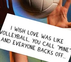 Hahaha i wish I'd be one happy girl if life was ALWAYS like volleyball!!!❤️
