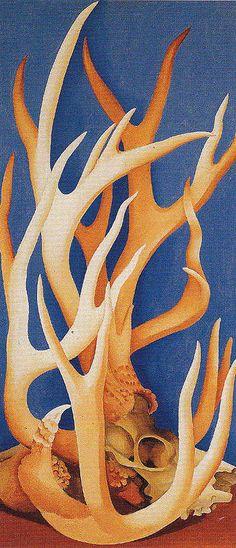 Georgia O'Keeffe. Deer Horns 1938