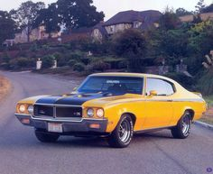 One of the baddest muscle cars on the planet; the 1970 Buick GSX. Engine was a Big Block 455, and was Buick's answer to Pontiac's GTO Judge. All I can do is :-)~