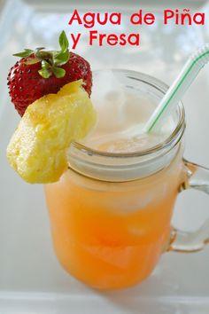 Agua+De+Pi%C3%B1a+Y+Fresa+%26%238211%3B+Pineapple+And+Strawberry+Agua