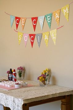 ice cream social...hehe great idea for a birthday party for my hubby who loves ice cream