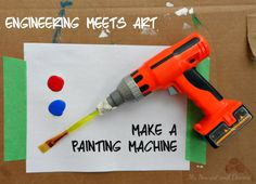 A fun combination of art and engineering for kids from My Nearest and Dearest blog.