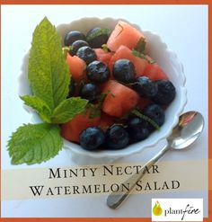 The Minty Nectar Watermelon Salad is a cool, refreshing and with a totally different zest of summer delightfulness!