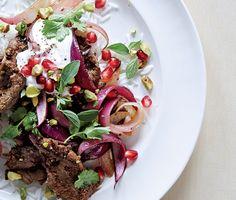 Lamb Stir-Fry with Pomegranate and Yogurt