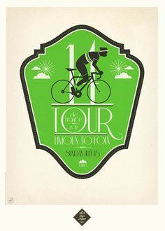 Tour de France 2012 Prints by Neil Stevens, via Behance