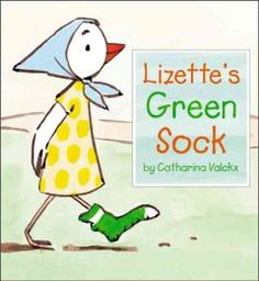 March 11, 2014. Lizette tries to figure out what to do with the one green sock that she finds while out walking one day.