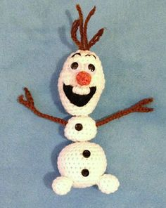 "free pattern :  Snap-Apart Olaf Crochet Pattern by ""Becky Ann Smith"" - Ravelry"