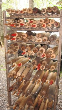 quite a collection of rolling pins