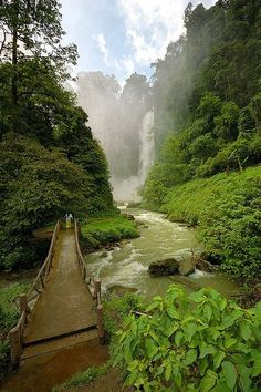 Bridge to Dongon Falls in South Cotabato, Philippines  #Philippines #tourism #touristspot #travel