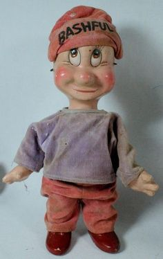 1930's Disney Knickerbocker Toy Co. Composition Doll Snow White Dwarfs Bashful |