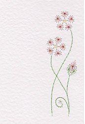 prick-n-stitch flower for paper
