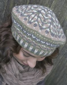 """Margaret's Tam by Melissa Johnson This pattern is part of the """"Green Mountain Weekend"""" ebook."""