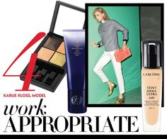 "Get #Supermodel Karlie Kloss' ""work appropriate"" look as featured on #Vogue.com #oribe #hair #SupershineLight"