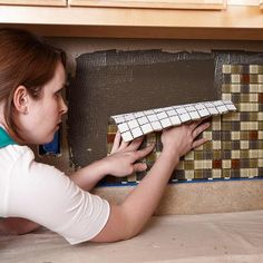 How to tile your backsplash...I will do this!