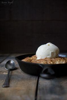 Skillet Peach Cobbler Recipe ~ Savory Simple