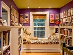 This is actually in a hallway - book nook, plus extra sleeping space
