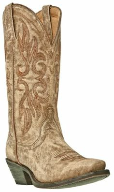 Laredo Crackle Goat Skin Cowgirl Boots - Square Toe - Sheplers  .....now I shall buy an outfit, a horse, a cowgirl hat and head out to the great State of Texas. Bet I find me a cowboy! Heh heh! Just kidding, but a girl can dream right?