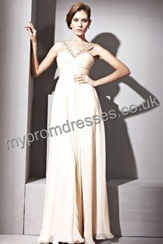 Floor length Off-the-shoulder Yellow Satin A-line Evening Dress  http://www.mypromdresses.co.uk/