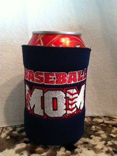 Can Koozie with Personalized Baseball Name by Appligrams on Etsy, $9.00