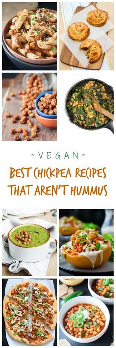 The BEST Vegan Chickpea Recipes That Aren't Hummus! Chickpeas, also called garbanzo beans, are nutritious, inexpensive, and versatile. Check out all the ways you can use this humble bean in these 41 delicious easy recipes! #vegan #chickpeas #garbanzobeans #vegetarian #dairyfree #eggfree #healthy
