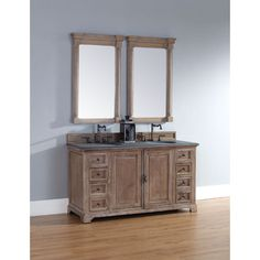 """James Martin Providence Collection 60"""" Double Bathroom Vanity, Driftwood 238-105-5611"""