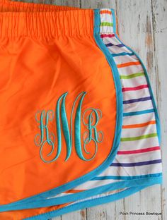 Monogrammed Running Shorts, Perfect for Summer at $24 with coupon code:  yellowfriday.  20% at Posh Princess Bowtique all weekend long.  Shop more deals at http://www.thechirpingmoms.com!