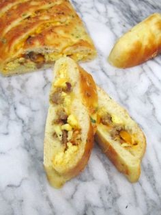 Breakfast Stromboli - I want to try this with biscuit dough!