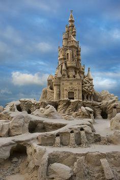 intricate sandcastles..