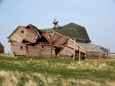 Collapsed barn.
