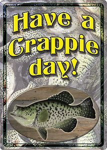 fishing cabin decor | Crappie Tin Sign 12 x 16 75 Cabin Home Lodge Fishing Decor | eBay