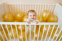 First Birthday Balloons.- cute picture idea
