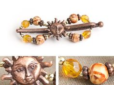 Lilla Rose Inc - Charming Sun Face adorn these warm colors of gold, rust, brown, and orange... a ray of sunshine!