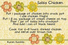 Salsa Chicken over brown rice..