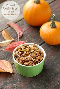 Roasted Pumpkin Seeds: The Best Method Ever! No more struggling with pumpkin 'goop' to get the seeds! BoulderLocavore.com