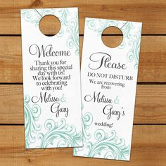 Wedding Hotel Gift Bag Poems : ... Personal Favors for out of town hotel guests, welcome bag, wedding