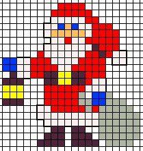 KleuterDigitaal - wb strijkkralen kerstman
