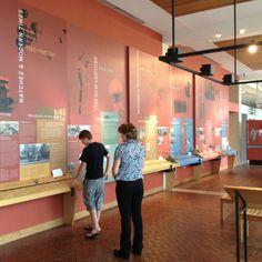 Natchez Visitor Center giant timeline.