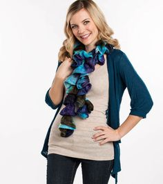 Love this crochet ruffle scarf! These are so popular right now!