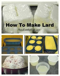 How To Render Fat To Make Lard - Ever wondered how to render fat to make lard? Hubby renders the fat every time we purchase a pig. Step by step instructions here: http://www.annsentitledlife.com/recipes/how-to-render-fat-to-make-lard/