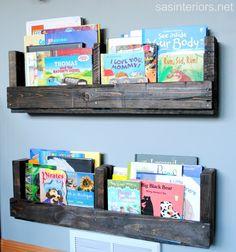 kid books, pallet projects, pallet shelves, diy tutorial, boy rooms